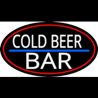 Cold Beer Bar Neon Skilt