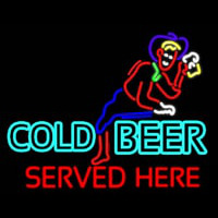 Cold Beer Served Here Real Neon Glass Tube Neon Skilt