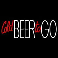 Cold Beer To Go Neon Skilt