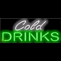 Cold Drinks Barbeque Neon Skilt