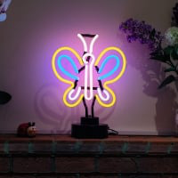Colorful Butterfly Desktop Neon Skilt