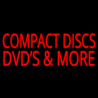 Compact Disc Dvds More 2 Neon Skilt