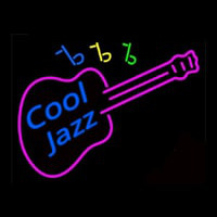 Cool Jazz Guitar Neon Skilt