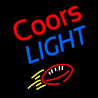 Coors Light Football Beer Neon Skilt