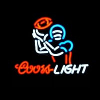 Coors Light Football Sport Neon Skilt