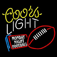 Coors Light Monday Night Football Neon Skilt