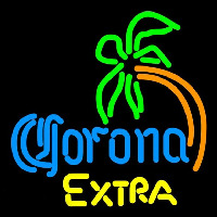 Corona E tra Curved Palm Tree Beer Sign Neon Skilt