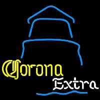 Corona E tra Day Lighthouse Beer Sign Neon Skilt