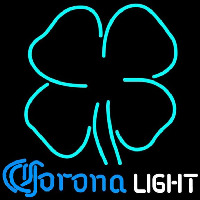Corona Light Clover Beer Sign Neon Skilt