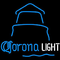 Corona Light Day Lighthouse Beer Sign Neon Skilt
