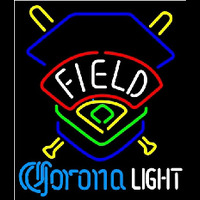 Corona Light Field Colorado Rockies Beer Sign Neon Skilt