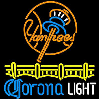 Corona Light New York Yankees Beer Sign Neon Skilt