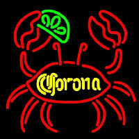 Corona Lime Crab Beer Sign Neon Skilt
