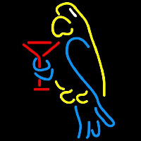 Corona Parrot Martini Glass Beer Sign Neon Skilt
