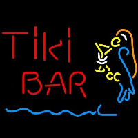 Corona Red Tiki Bar Martini Parrot Beer Neon Skilt