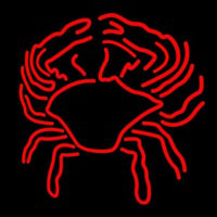 Crab Block With Logo 1 Neon Skilt