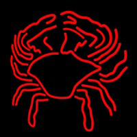 Crab Block With Logo Neon Skilt