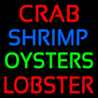 Crab Shrimp Lobster Oyster Neon Skilt