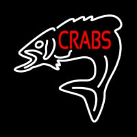 Crabs With Fish Logo Neon Skilt