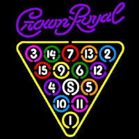 Crown Royal 15 Ball Billiards Pool Beer Sign Neon Skilt