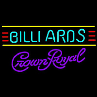 Crown Royal Billiards Te t Borders Pool Beer Sign Neon Skilt