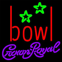 Crown Royal Bowling Alley Beer Sign Neon Skilt