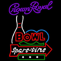 Crown Royal Bowling Spare Time Beer Sign Neon Skilt