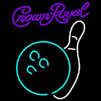 Crown Royal Bowling White Beer Sign Neon Skilt