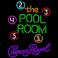 Crown Royal Pool Room Billiards Beer Sign Neon Skilt