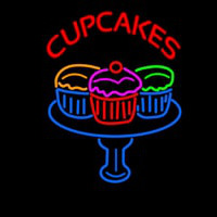 Cup Cakes Neon Skilt