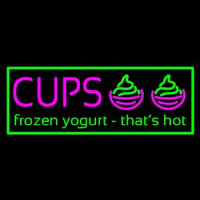 Cups Frozen Yogurt Neon Skilt