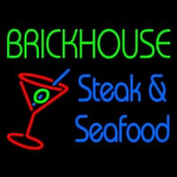 Custom Brickhouse Steak And Seafood Neon Skilt