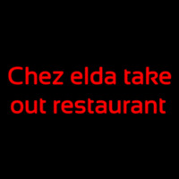 Custom Chez Elda Take Out Restaurant Neon Skilt
