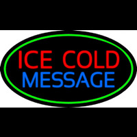Custom Ice Cold Cold Drinks Neon Skilt