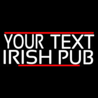 Custom Irish Pub With Red Line Neon Skilt