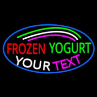 Custom Made Frozen Yogurt Neon Skilt