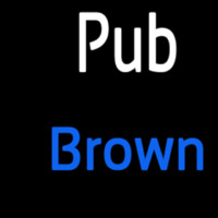Custom Pub Brown 2 Neon Skilt