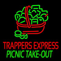 Custom Trappers E press Picnic Take Out Neon Skilt