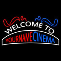 Custom Welcome To Cinema Neon Skilt
