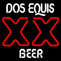 DOS Equis Beer Sign Neon Skilt