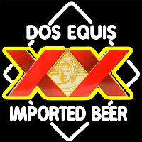 DOS Equis Imported Beer Sign Neon Skilt