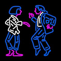 Dancing Couple Neon Skilt
