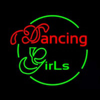 Dancing Girls Neon Skilt