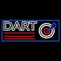 Dart Board With Blue Border Neon Skilt