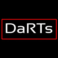 Darts With Red Border Neon Skilt