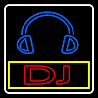 Dj With Logo Neon Skilt