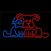 Dog Cat Logo Neon Skilt