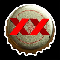 Dos Equis Amber Me ico Bottle Cap Beer Sign Neon Skilt