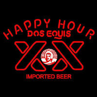 Dos Equis Beer Happy Hour Beer Sign Neon Skilt
