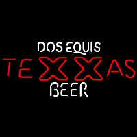 Dos Equis TeXXas Beer Sign Neon Skilt
